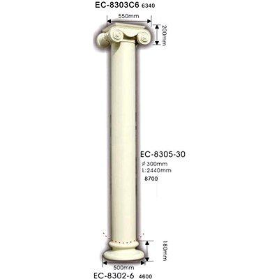 колонна classic home ec-8305-30