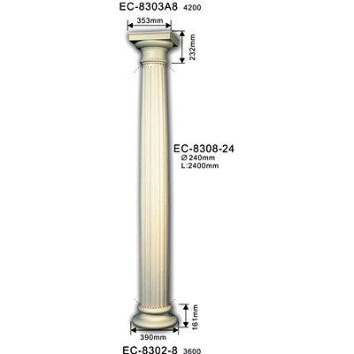 колонна classic home ec-8308-24