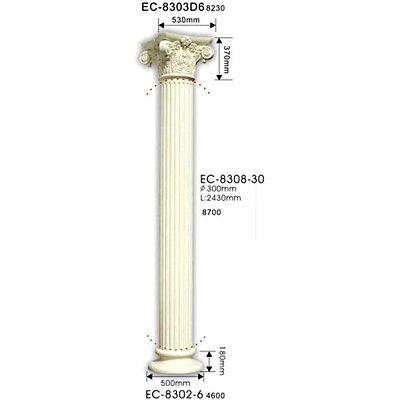 колонна classic home ec-8308-30