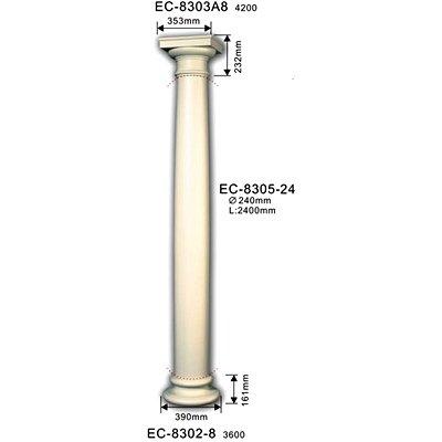 колонна classic home ec-8305-24