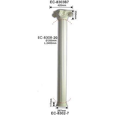 колонна classic home ec-8308-20
