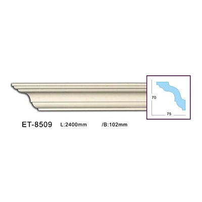 карниз гладкий classic home et-8509