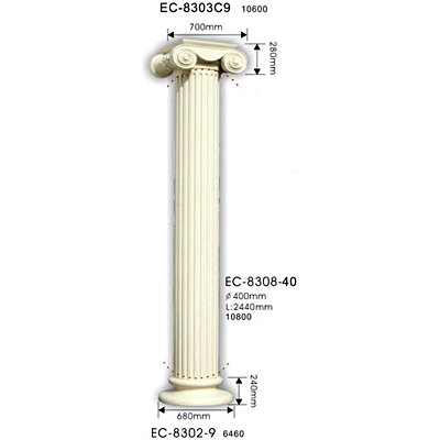 колонна classic home ec-8308-40