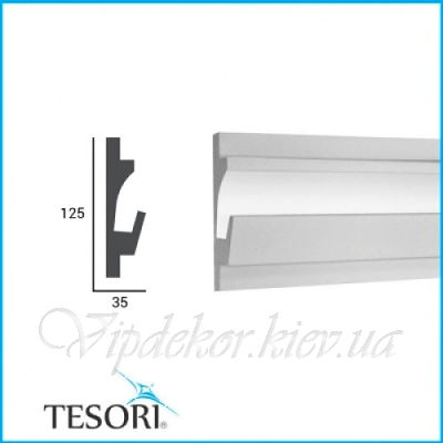 Карниз для скрытого освещения TESORI KD 401