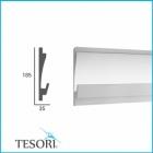 Карниз для скрытого освещения TESORI KD 406